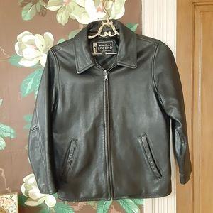EDDIE BAUER Heavy Leather Stine Jacket Petite S